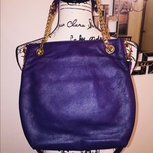 Gorgeous Michael Kors Purple Pebble Leather Purse